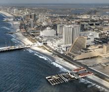 aerial view of Atlantic City